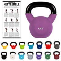 Kettlebell Professional Neopren 2 – 30 kg Kugelhantel, Farbe:12 Kg - Lila