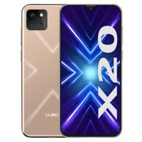 CUBOT X20 Smartphone ohne Vertrag, 4G LTE 6,3 Zoll Smartphone, 4GB RAM+64GB ROM, 4000mAh Akku, 20MP/12MP/8MP + 13MP Kamera, Dual SIM Handy Android 9.0, Face ID(Gold)