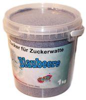 1Kg Premiumzucker für Zuckerwattemaschinen: Blaubeere