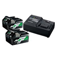 HiKOKI Booster Pack Multi Volt UC18YSL3WEZ, 2 Akkus 36 V 2,5 Ah, Ladegerät