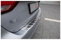 Edelstahl Ladekantenschutz für Audi A4 B9 Avant Kombi  2015-2019, Farbe:Silber