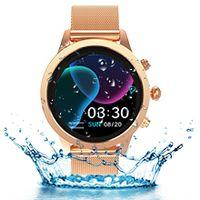 ATOKIT Smartwatch Damen, Smart Armbanduhr Fitness Tracker Wasserdicht IP68 Fitnessuhr Pulsuhren Sportuhr Schrittzähler Uhr Schlafmonitor für Android iOS