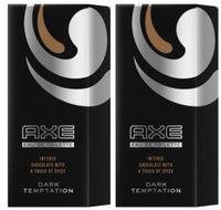 AXE Eau de Toilette Dark Temptation Parfum Männerduft Herrenparfum Männerparfum Herrenduft 2x 50ml