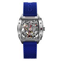 Xiaomi CIGA Design Männer Automatische Mechanische Analoge Uhr Hohl Edelstahl Business Casual Armbanduhr Geschenk[Blau]