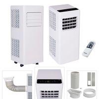AREBOS 4in1 Mobile Klimaanlage 7000 BTU Klimagerät Kühlen Entfeuchter Ventilator