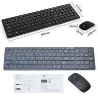 2.4G Wireless Kabellos USB Funk Keyboard Tastatur und Maus für PC Laptop Computer Schwarz