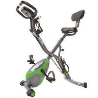 Skandika F-Bike X-3000 4- in-1, Grün-Grau | klappbar | Bluetooth 4.0 | Handpulsmessung | Ergometer | Kraftstation