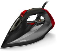 Philips GC 4567/80 Azur Dampbügeleisen schwarz/rot, Farbe:Schwarz/Rot