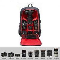 WISFOR Kamera Rucksack wasserdicht Fotorucksack Laptop Reise Tasche für Canon Nikon Sony Regenschutz