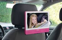 Lenco Portabler DVD-Player 9 Zoll TDV-901, Tablet-Funktion, Touch-Screen, WiFi, USB, SD, 12 Volt Kfz Adapter, Farbe: Pink