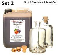 Balsamico Creme Feige 5L + 2 Flaschen & Ausgießer 3%Säure Mit original Crema di Aceto Balsamico di Modena IGP