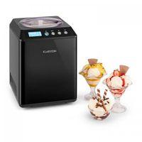 Klarstein Vanilly Sky Family Eiscremebereiter Speiseeismaschine Eismaschine (Frozen Yoghurt, Kühlhaltefunktion, Timer, 250 Watt Restarbeitszeitanzeige, 2,5 Liter Fassungsvermögen) schwarz
