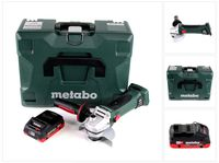 Metabo W 18 LTX 125 Quick Akku Winkelschleifer 18V 125mm ( 602174840 ) mit MetaLoc + 1x  Akku 4,0 Ah - ohne Ladegerät