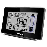 Funk Wetterstation mit Außensensor Regenmesser DCF Temperatur Luftfeuchtigkeit Alarm Kalender Niederschlagsmessung