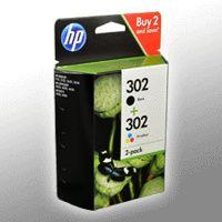 HP 302 2er-Pack Schwarz/Cyan/Magenta/Gelb Original Tintenpatronen