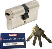 ABUS EC660 Doppelzylinder Länge (a/b) 28/34mm (c=62mm) mit Sicherungskarte und 4 Schlüssel, Not-u. Gefahrenfunktion und SKG** Bohrschutz