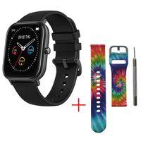 2020 neue 1,4-Zoll Smart Watch Männer Full Touch Fitness Tracker Blutdruck Smart Clock Frauen GTS Smartwatch für Xiaomi, Schwarz