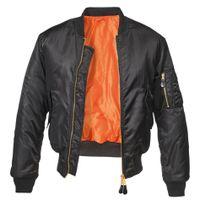 Brandit - MA1 Jacket 3149-2 Black Bomberjacke Fliegerjacke Pilot CWU Größe L