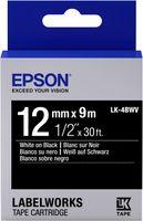 Epson Etikettenkassette LK-4BWV - Vivid - weiß auf schwarz - 12mmx9m, Weiss auf Schwarz, 1 Stück(e), Japan, LabelWorks LW-Z900FK (QWERTY) LabelWorks LW-Z710 LabelWorks LW-Z700FK (QWERTY) LabelWorks..., 1,2 cm, 9 m
