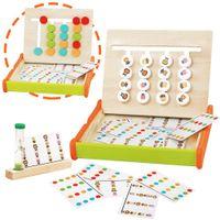 Montessori Spielzeug Puzzle Kinder Logik Spiel Holz Sortierspiel Pädagogisches Holzspielzeug Holzpuzzle Farbe Tier Set mit 16 Holzblock Sortieren Lernspielzeug Puzzles für Jungen Mädchen 3+ Jahre Alt