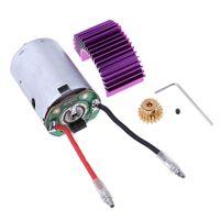 RC 540 Motor \\u0026 17T Getriebe + Kühler Kühlkörper Für Wltoys 12428 12423 Auto