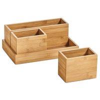 Zeller Present Organizer-Set Bambus, natur, 4-teilig (1 Set)