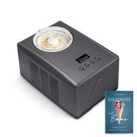 Springlane Eismaschine Emma 1,5 L mit selbstkühlendem Kompressor 150 W, aus Edelstahl mit entnehmbarem Eisbehälter, inkl. Rezeptheft Anthrazit/Schwarz