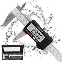Messschieber Digital Schieblehre 150mm Elektronische Edelstahl Meßschieber mit LCD Display Messwerkzeuge für Haushalt Industrie