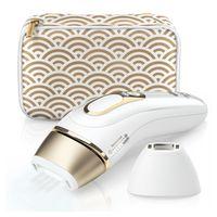 Braun Silk-Expert Pro 5 PL5137 IPL-Haarentfernungsgerät mit Präzisionsaufsatz - Beine, Körper, Gesicht - weiß/gold