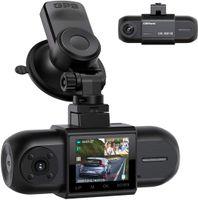 """Dashcam Dual FHD 1080P Vorne und Hinten, Autokamera mit GPS, Akku und IR-Nachtsicht, 170° Auto Camera, 1,5"""" IPS Dash Cam mit G-Sensor, Parküberwachung Loop-Aufnahme 256GB Unterstützt"""