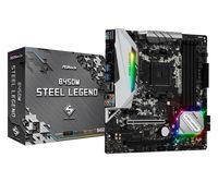 ASRock B450M Steel Legend - AMD - Socket AM4 - AMD A - DDR4-SDRAM - DIMM - 2133,2400,2667,2933,3200,3533 MHz