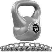 MOVIT® 14 kg Kettlebell Kugelhantel grau