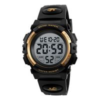 SKMEI Kinderuhr Armbanduhr Fashion Multifunction Waterproof Outdoor Sports Leuchtende Uhr fš¹r Kinder Studenten Jungen 1266 Gold