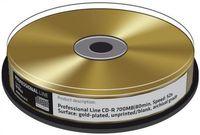 10 Professional Rohlinge CD-R GOLD 24 Karat 80Min 700MB 52x Spindel