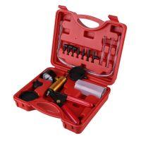 Vakuumpumpe Hand Unterdruckpumpe KFZ Bremsenentlüfter Bremse Entlüften Unterdruck Druckprüfer Set Universal