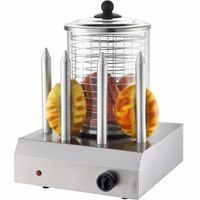 Syntrox Chef Maker HDM-4 Hot Dog Maker mit 4 Spießen Würstchenwärmer Bockwurstwärmer