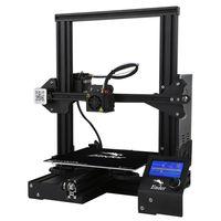 Creality 3D Ender-3 3D Drucker Printer DIY Kit drucker mit Gehärtetes Glasbett + 5*0.4mm Düse 220 mmx 220 mmx 250mm