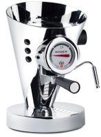 Bugatti DIVA Cromo Espressomaschine, Portionsgerät, Tassenwärmer, Milchaufschäumer