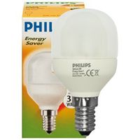 Energiesparlampe, E14/7W-827, Philips Softone Esaver, T45-8yr