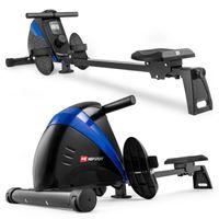 Hop-Sport Rudergerät für Zuhause Boost – Rudergerät klappbar mit kugelgelagertem Sitz, Computer & Magnetbremssystem, 10 Stufen - Rudermaschine max. Nutzergewicht 120kg