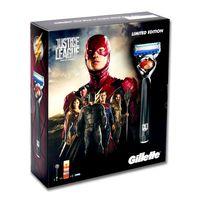 Gillette Fusion ProGlide Flexball Justice League Geschenkset mit Rasierer, Rasiergel + 3 Ersatzklingen