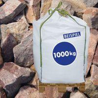 1000kg BigBag Gabionen Steine Quarzitbruch rot 40-70 mm