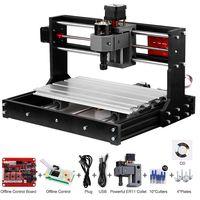 Upgrade-Version CNC 3018 Pro GRBL-Steuerung DIY Mini-CNC-Maschine 3-Achsen-Leiterplattenfräser Holzfräser mit Offline-Controller mit ER11 und 5 mm Verlängerungsstange Arbeitsbereich 300 * 180 x 40 mm