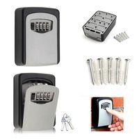 2 x Schlüsselsafe,4-Stellige Schlüsseltresor,Keygarage, Keysafe, Lock Box mit Zahlencode