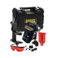 STANLEY FatMax FMHT1-77357 Multilinienlaser X3R rot 3x 360° - Set mit Lasersichtbrille, Zieltafel, Ladegerät und Transportkoffer