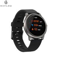 Xiaomi Haylou Solar 1,28 Zoll TFT Bluetooth Touchscreen Fashion Smartwatch 12 Sports Modes Sportuhr Fitnesstracker IP68 Wasserdicht mit Herzfrequenzmesser Global Version APP Android IOS Schwarz