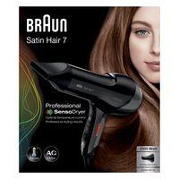 Braun Satin Hair 7 SensoDryer HD780, Professioneller Haartrockner mit Thermosensor und AC-Motor, inkl. Stylingdüse, 2000 Watt