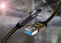 USB C lade Kabel 2M - USB 3.0 für Samsung   Nylon   Schnell laden & Synchroniseren inclusive Norton 360 für alle OS   alle USB Typ-C Geräte jetzt schnell geladen und gesichert !