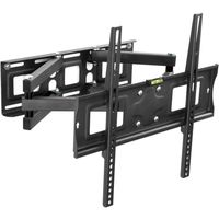 """tectake TV Wandhalterung individuell schwenkbar, neigbar für 26"""" (66cm) - 55"""" (140cm), VESA max.: 400x400, bis 100kg - schwarz"""