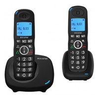 Alcatel XL535 DUO, Kabelloses Mobilteil, Freisprecheinrichtung, 100 Eintragungen, Anrufer-Identifikation, Schwarz